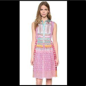 Diane Von Furstenberg Scarf Pink Floral dress 6